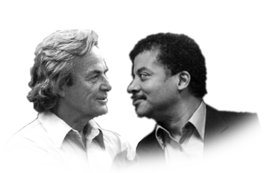 Richard Feynman and Neil deGrasse Tyson, yet another happy couple.