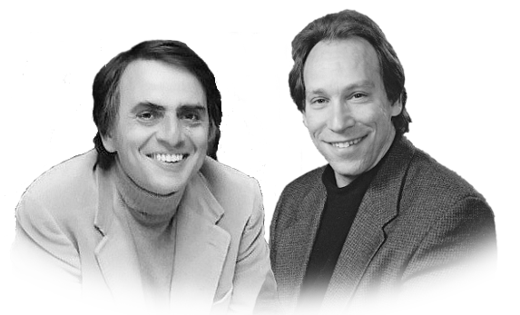 Carl Sagan and Lawrence Krauss, yet another happy couple.